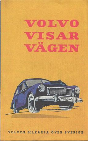 Faksimil av bilkarta utgiven av Volvo 1956